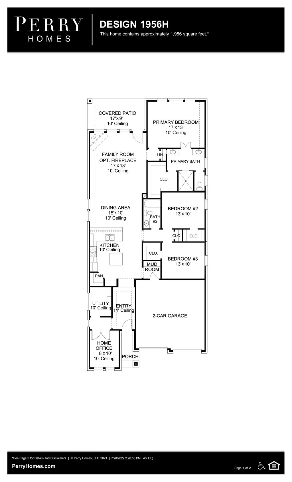 Floor Plan for 1956H