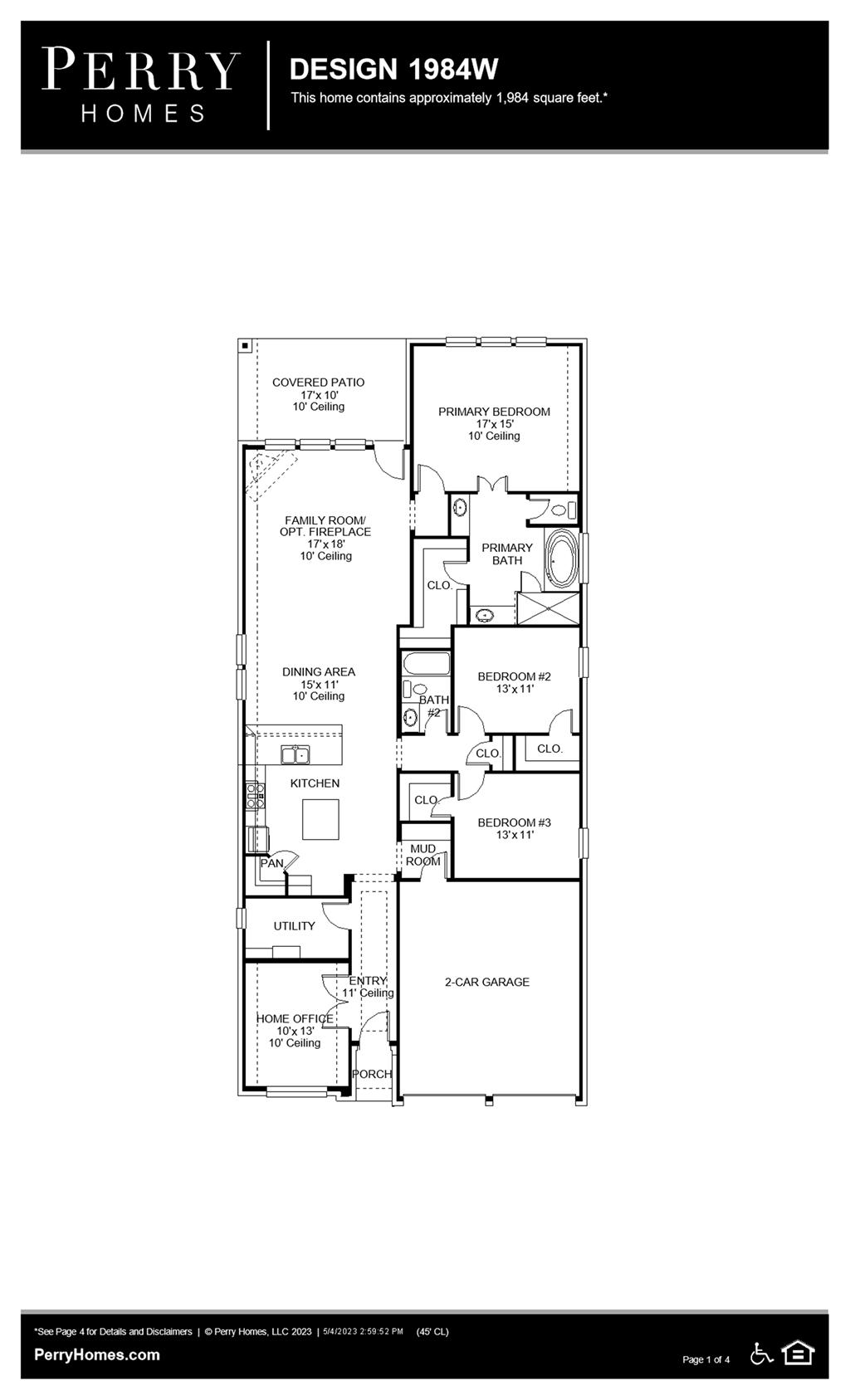 Floor Plan for 1984W