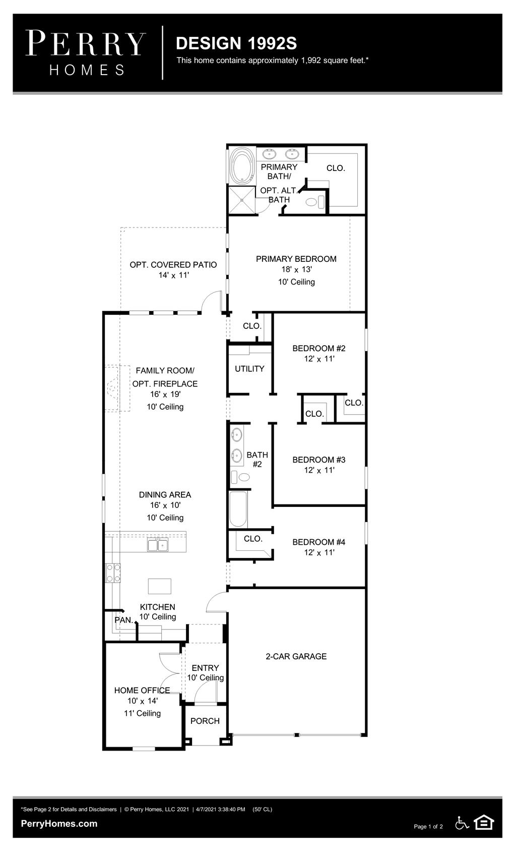 Floor Plan for 1992S