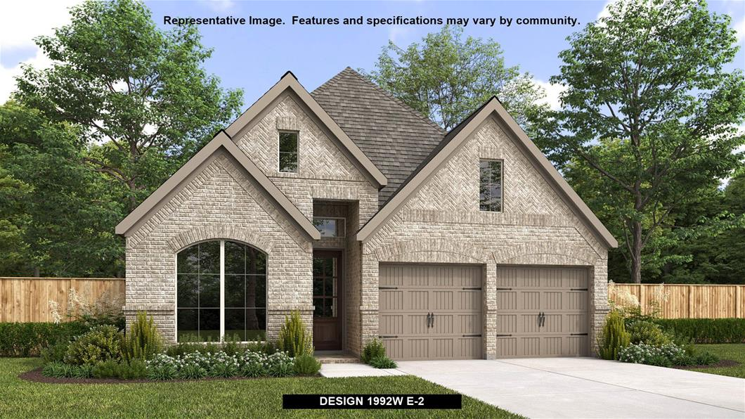 New Home Design, 1,992 sq. ft., 4 bed / 2.0 bath, 2-car garage