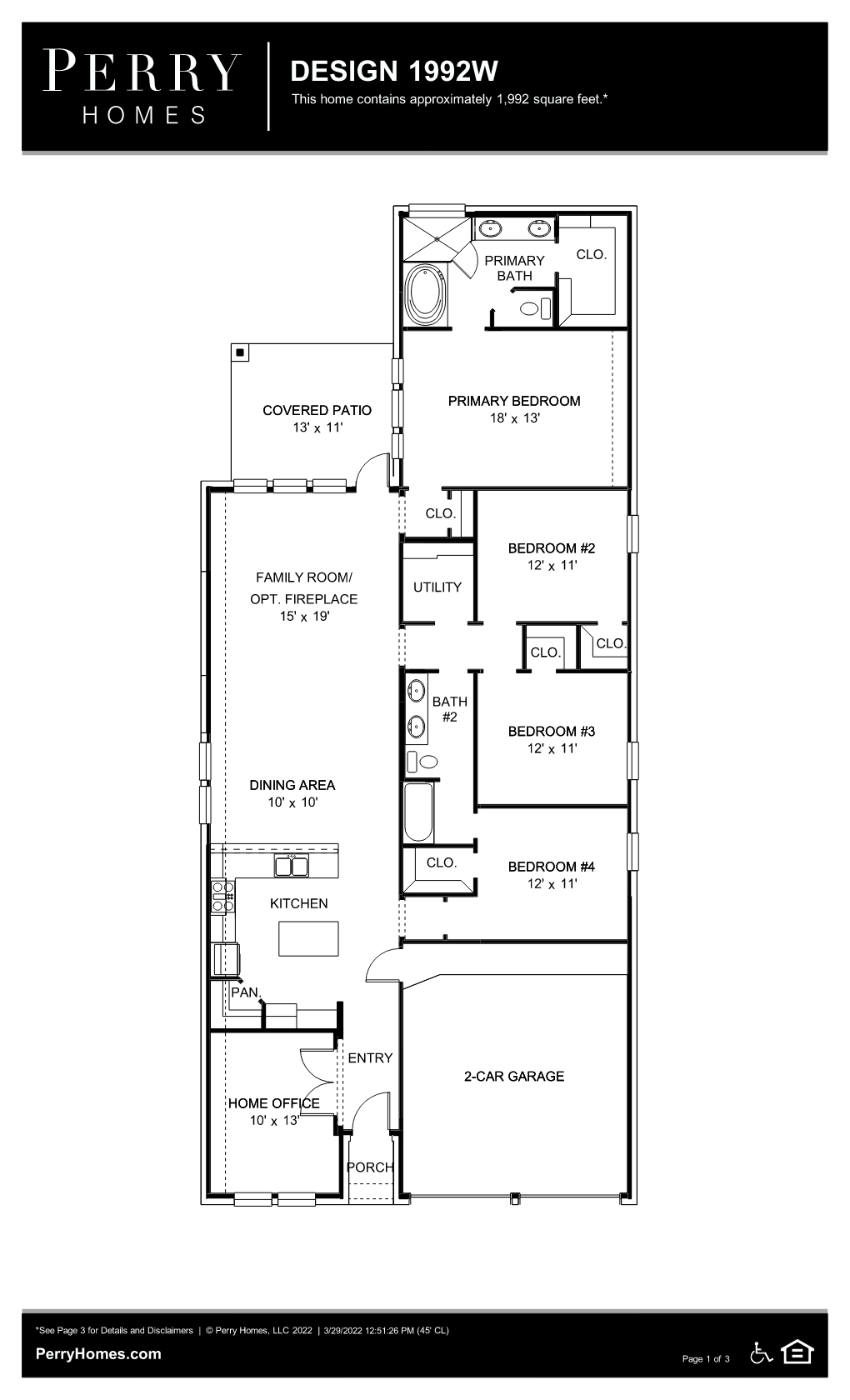 Floor Plan for 1992W