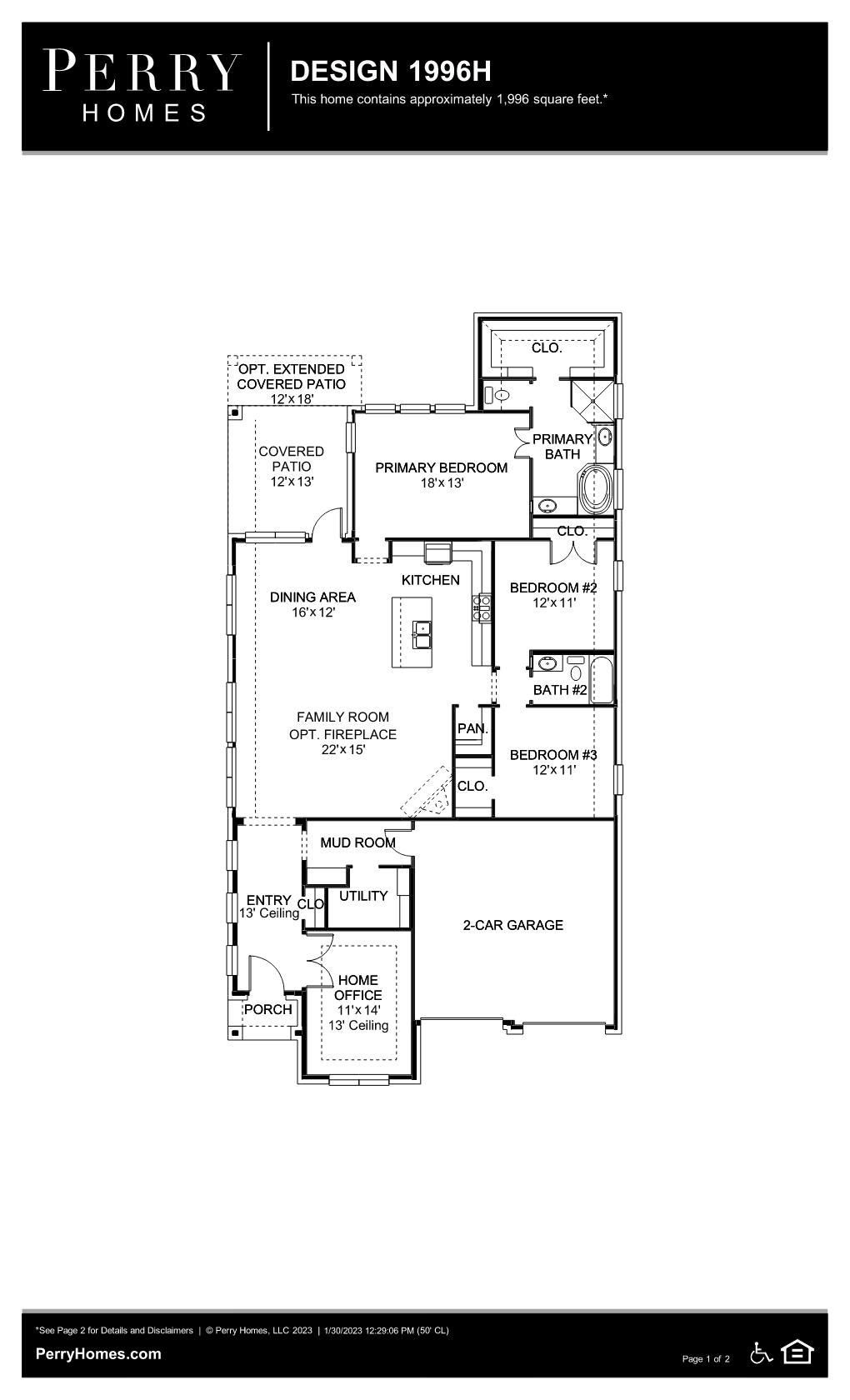 Floor Plan for 1996H