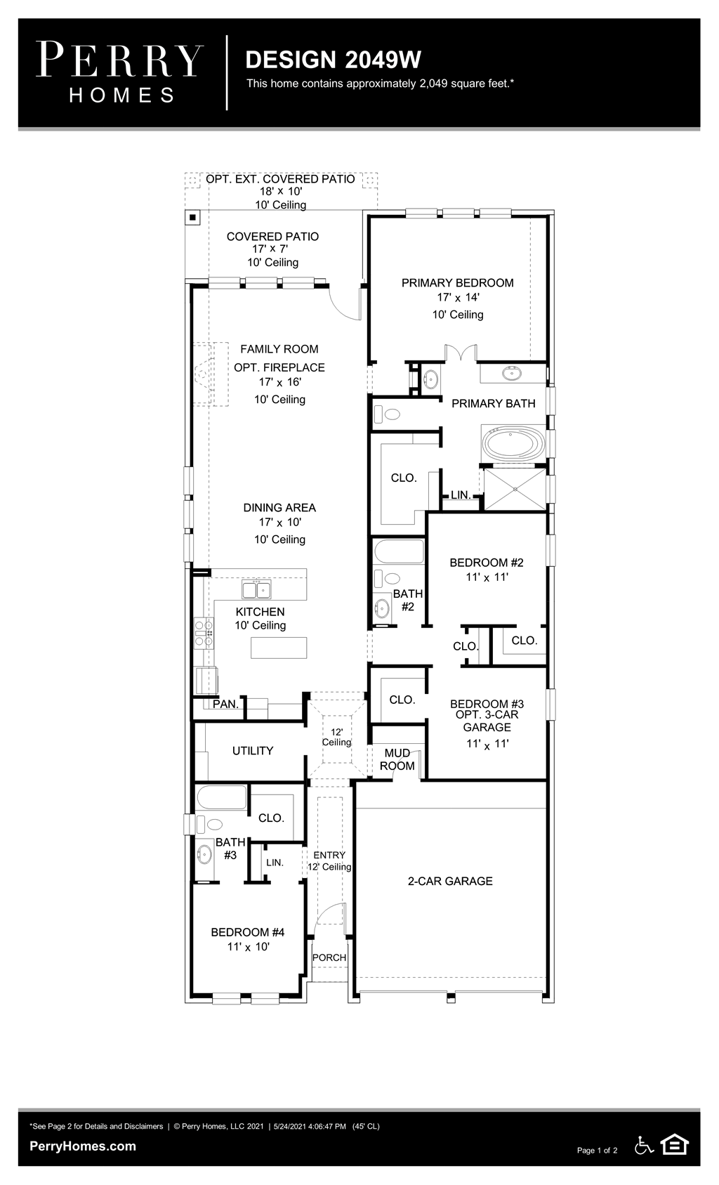 Floor Plan for 2049W