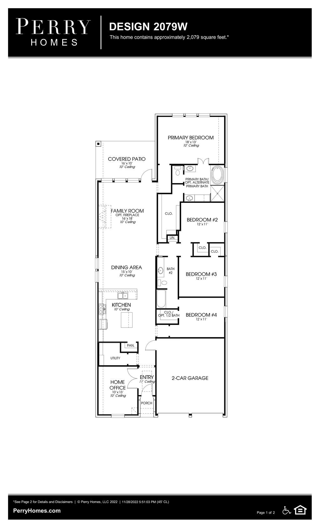 Floor Plan for 2079W