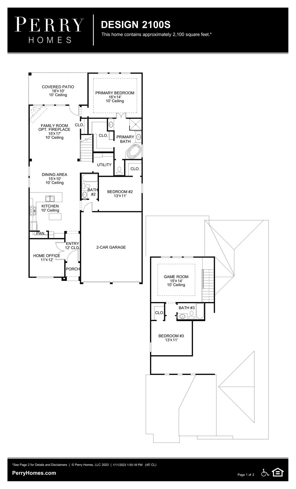 Floor Plan for 2100S