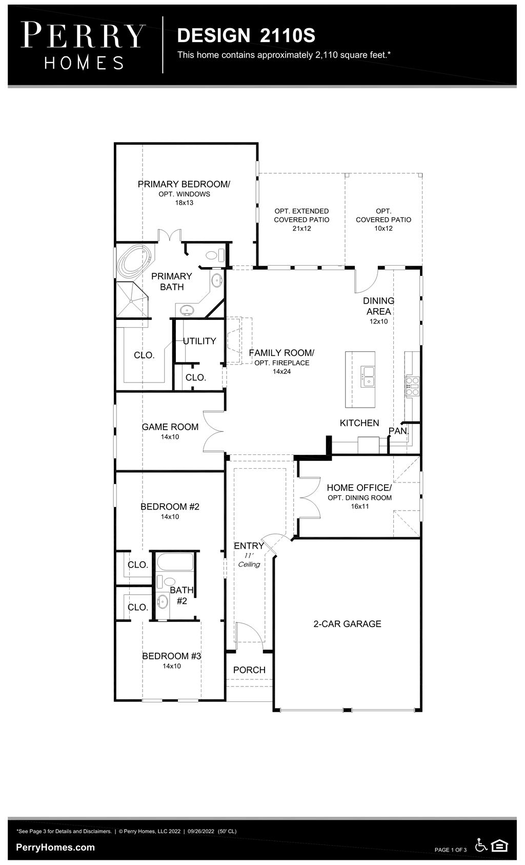 Floor Plan for 2110S
