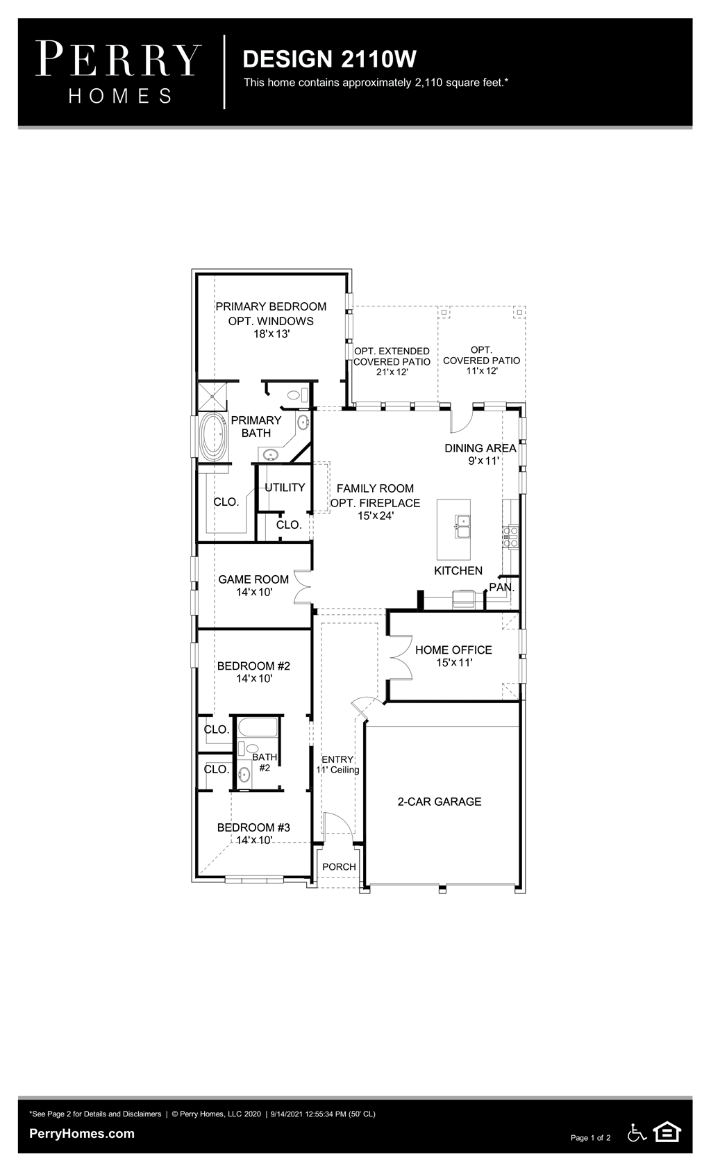Floor Plan for 2110W