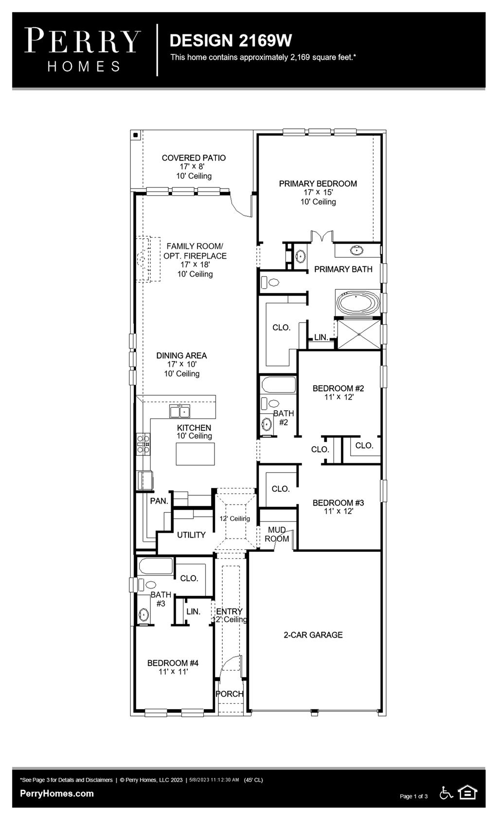 Floor Plan for 2169W