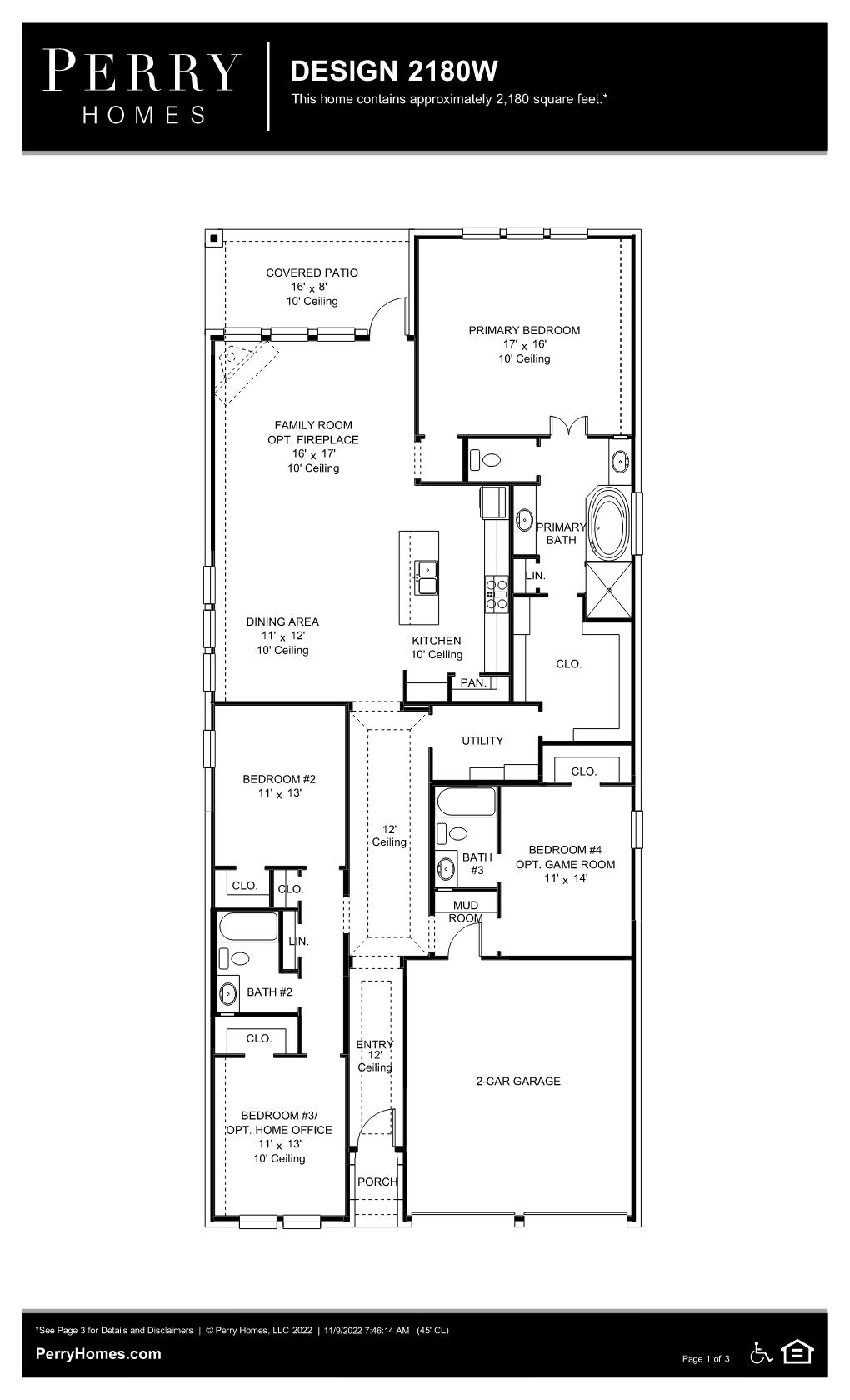 Floor Plan for 2180W
