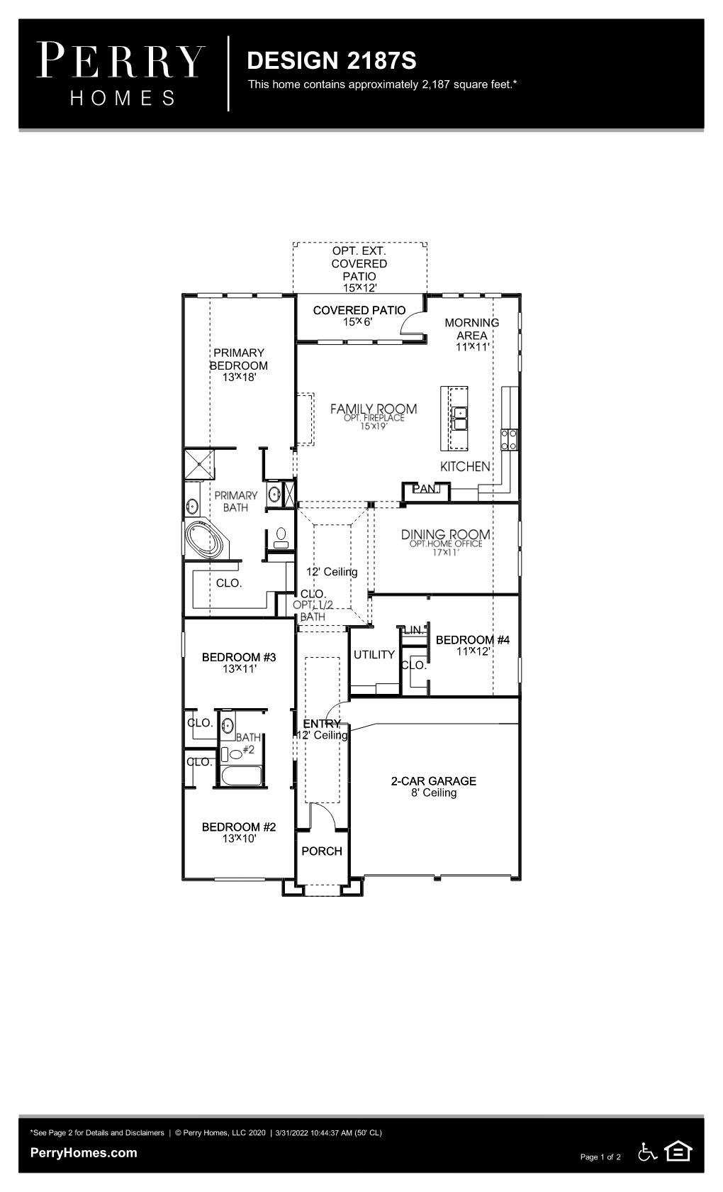 Floor Plan for 2187S