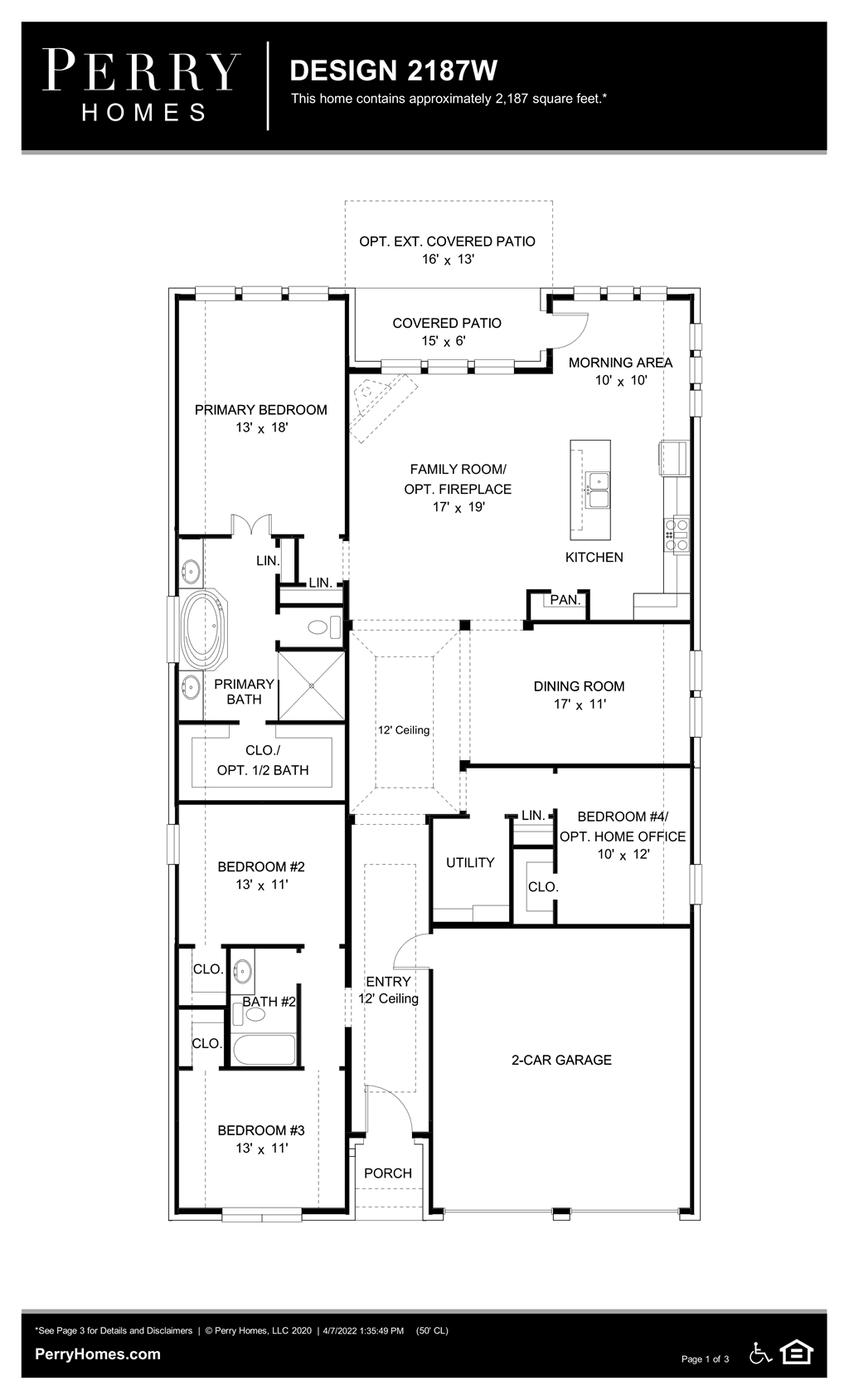 Floor Plan for 2187W