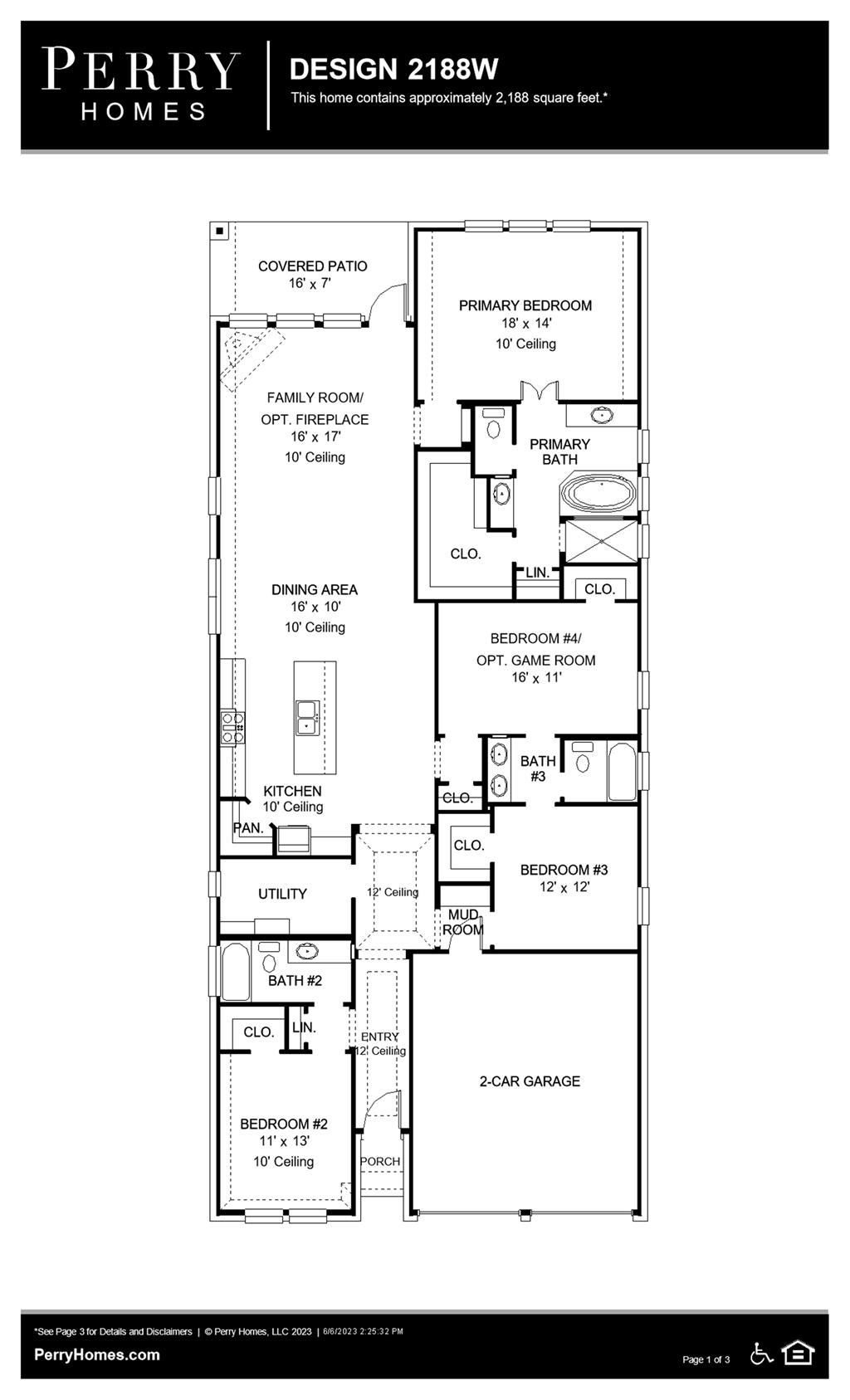 Floor Plan for 2188W