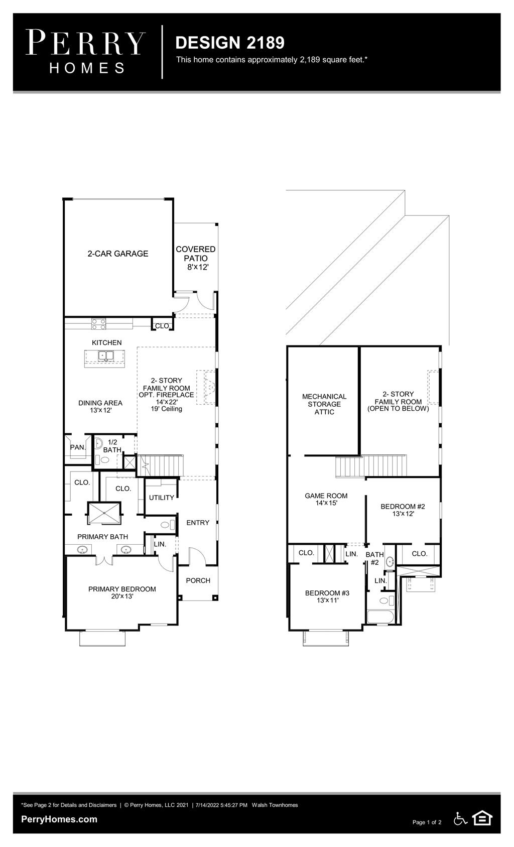 Floor Plan for 2189