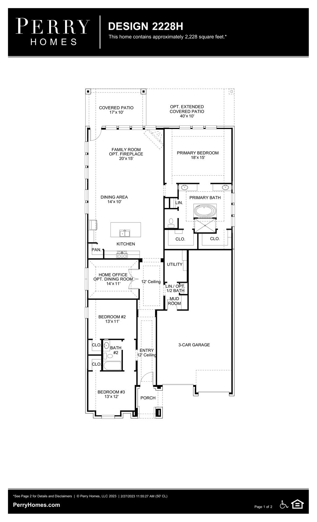 Floor Plan for 2228H