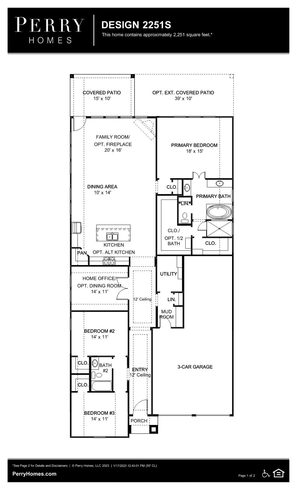 Floor Plan for 2251S