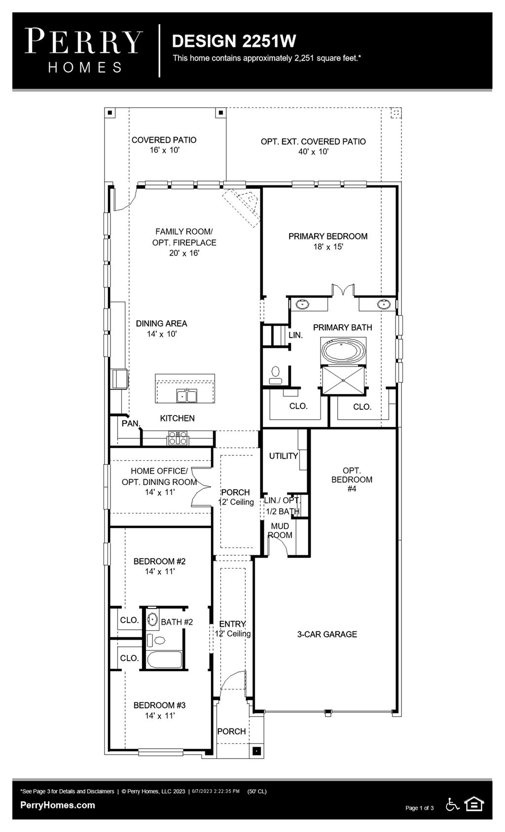 Floor Plan for 2251W