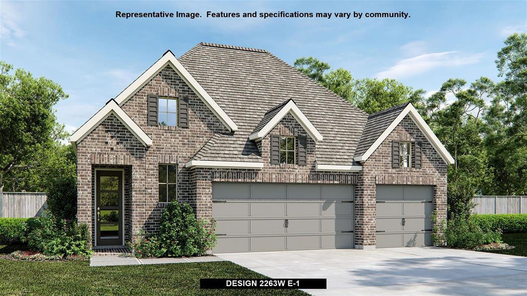 New Home Design, 2,263 sq. ft., 4 bed / 3.0 bath, 3-car garage