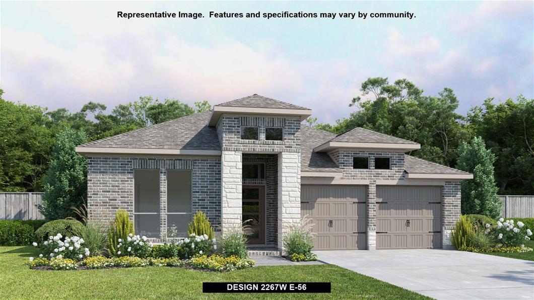 New Home Design, 2,267 sq. ft., 4 bed / 2.5 bath, 2-car garage