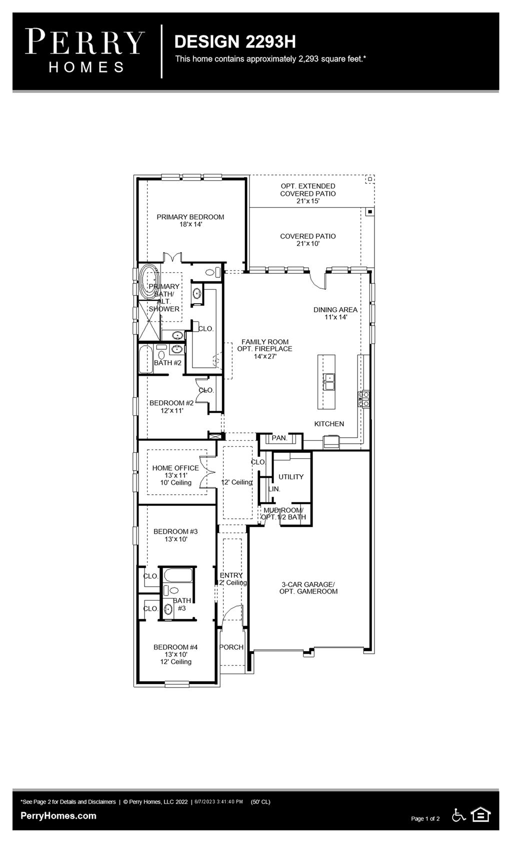 Floor Plan for 2293H