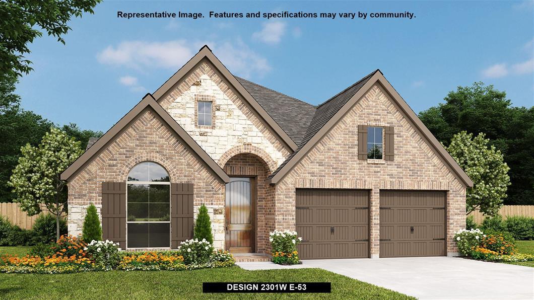 New Home Design, 2,301 sq. ft., 4 bed / 2.0 bath, 2-car garage
