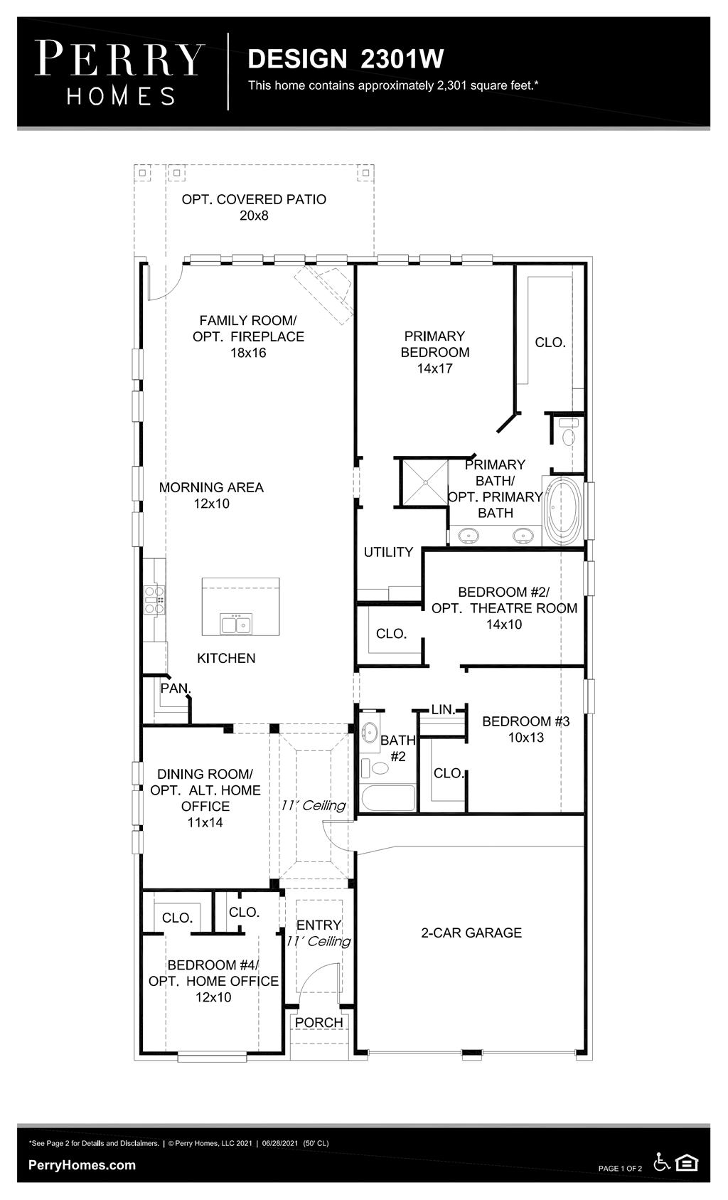 Floor Plan for 2301W