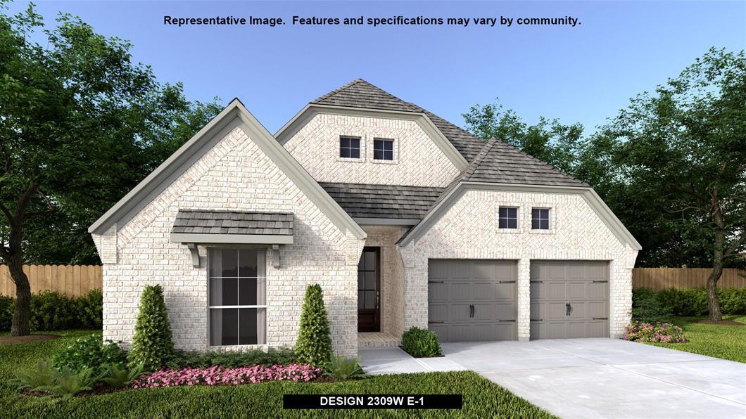 New Home Design, 2,309 sq. ft., 4 bed / 3.0 bath, 2-car garage