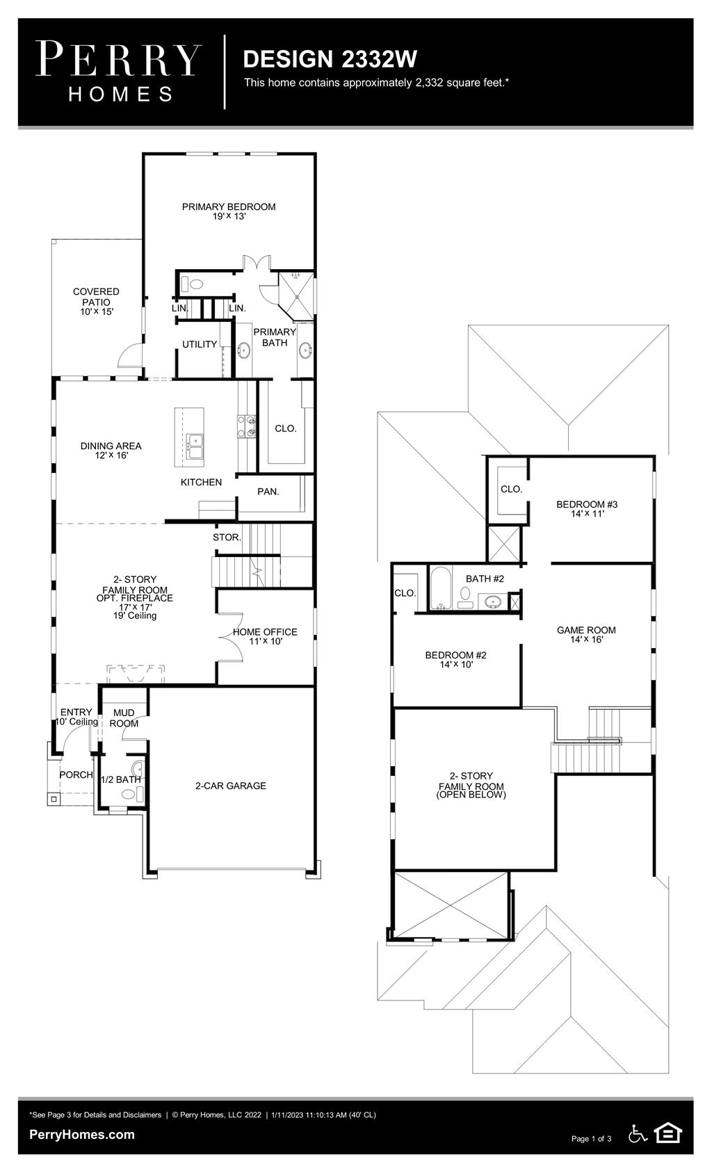 Floor Plan for 2332W