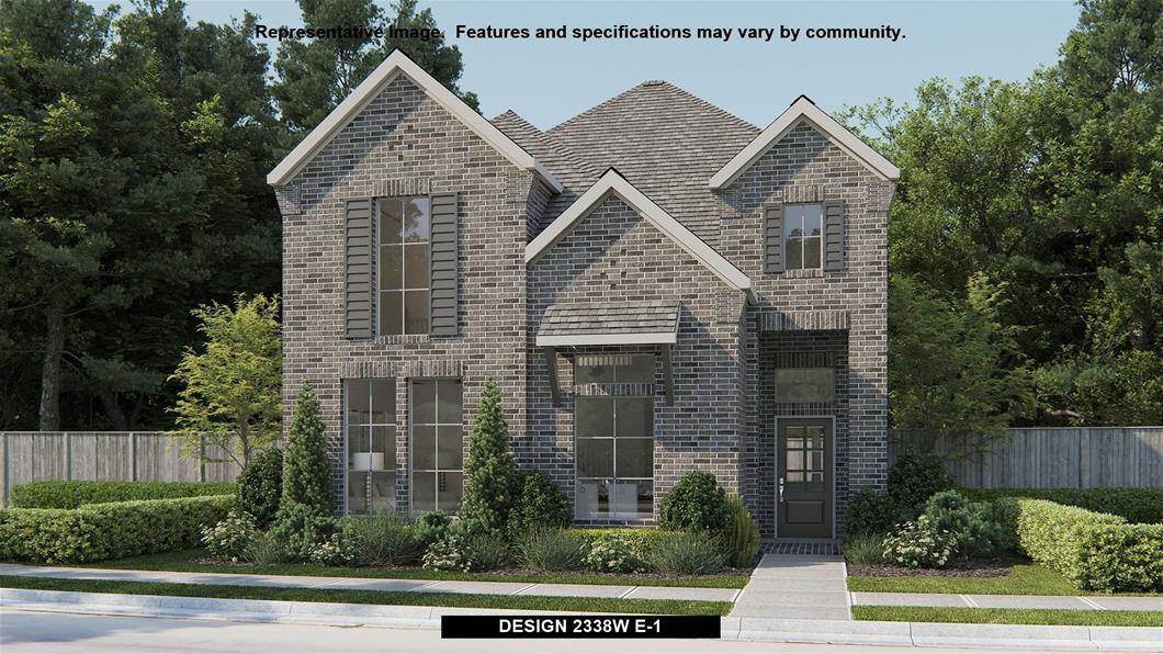 New Home Design, 2,338 sq. ft., 4 bed / 3.5 bath, 2-car garage