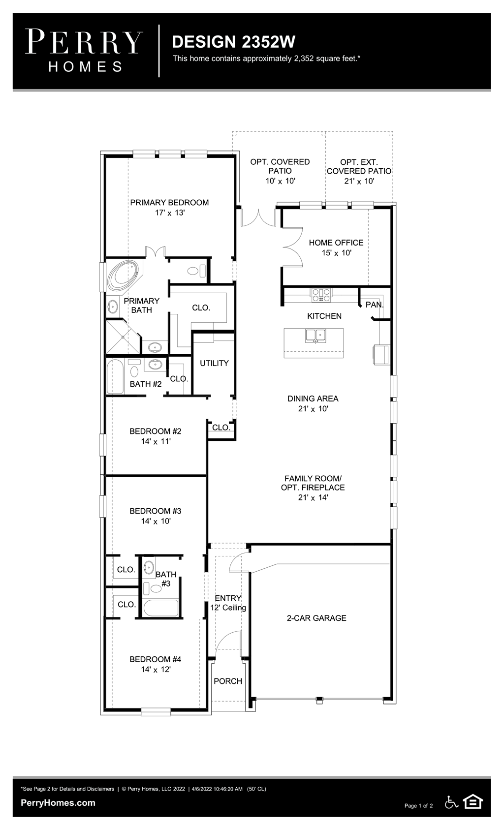 Floor Plan for 2352W