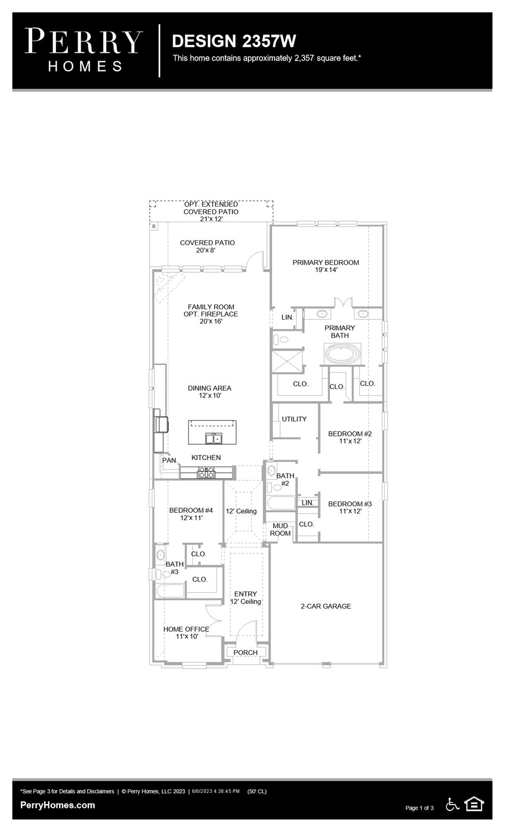 Floor Plan for 2357W