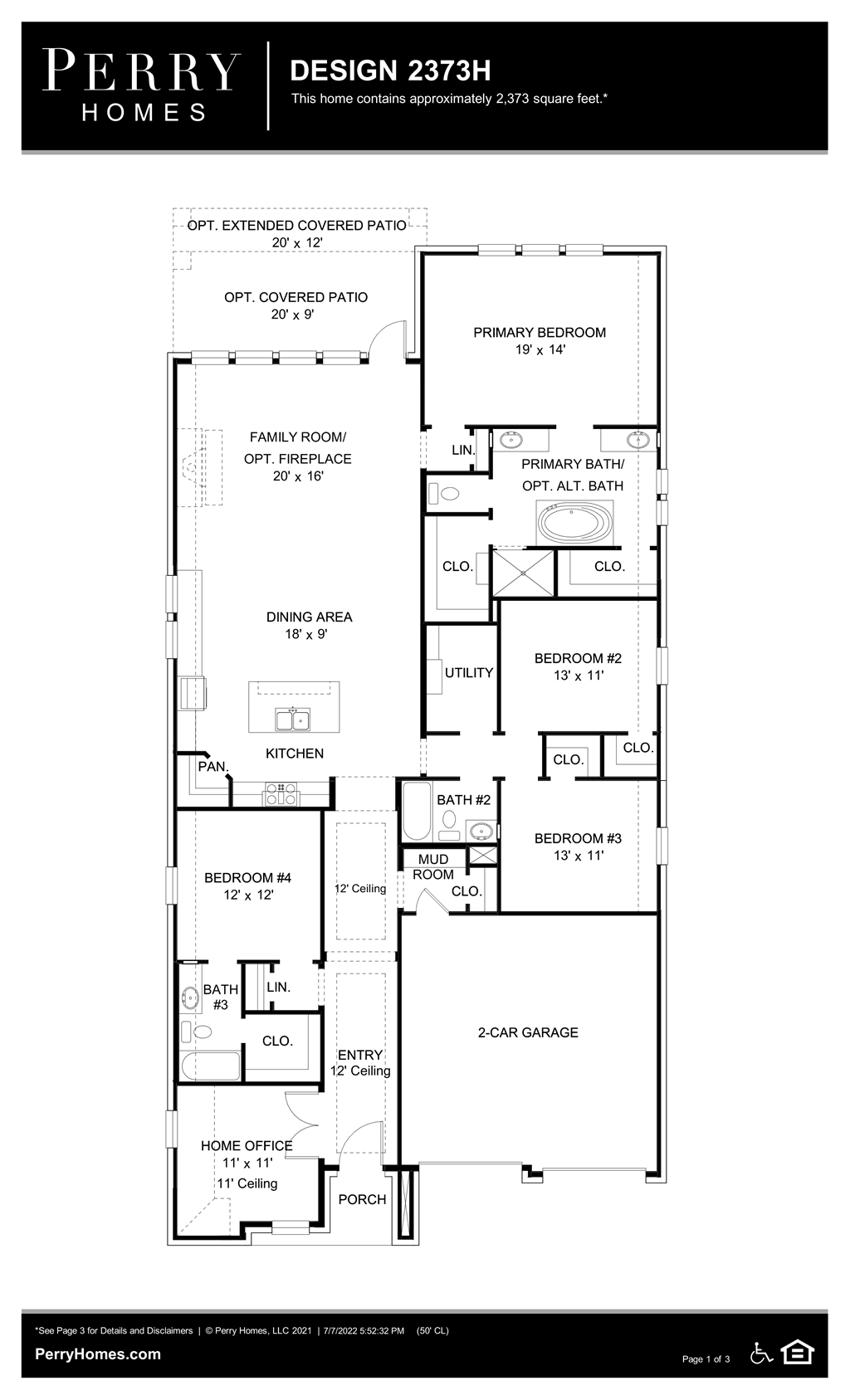 Floor Plan for 2373H