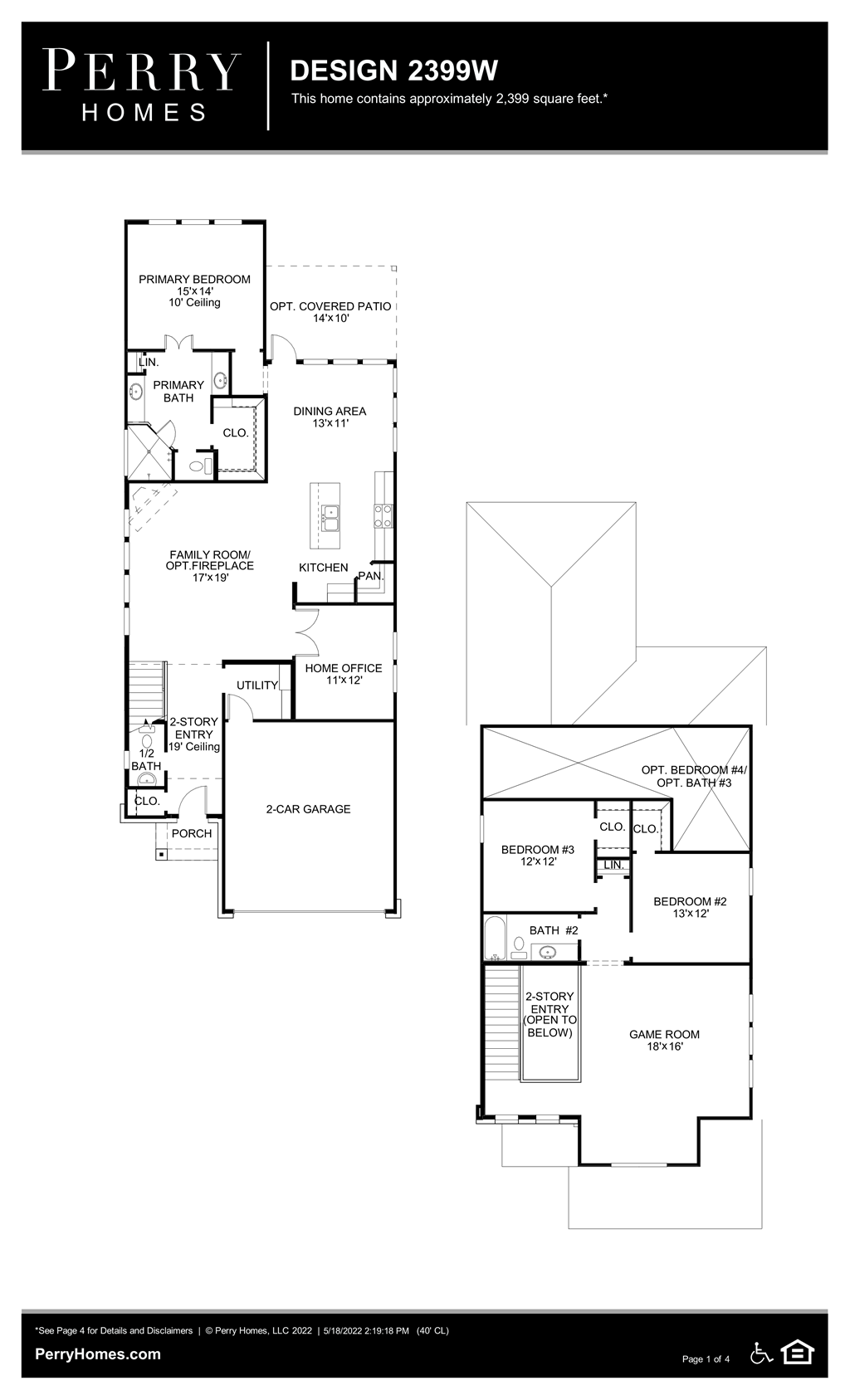 Floor Plan for 2399W