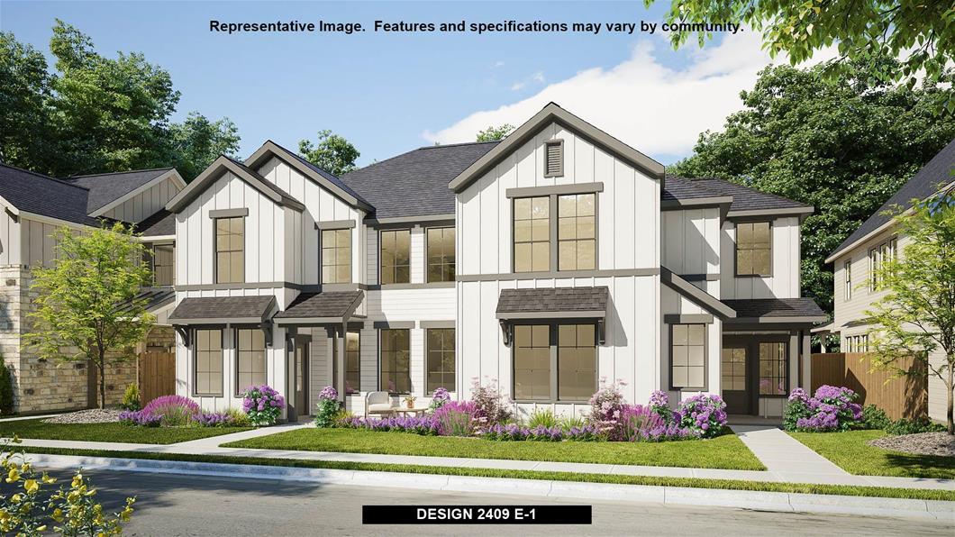 New Home Design, 2,409 sq. ft., 3 bed / 3.5 bath, 2-car garage
