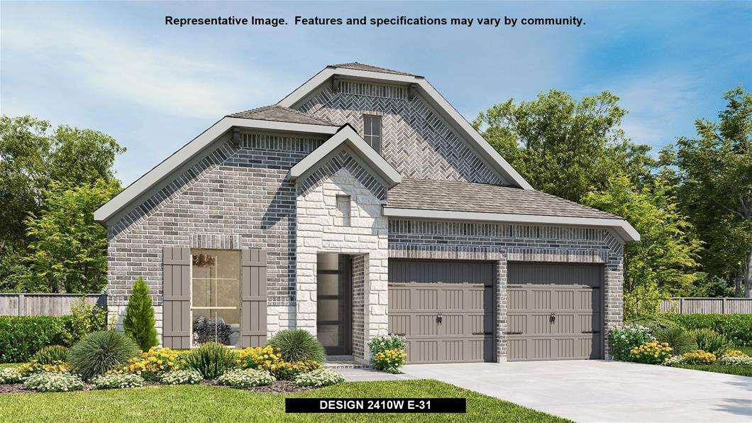 New Home Design, 2,410 sq. ft., 4 bed / 3.0 bath, 2-car garage