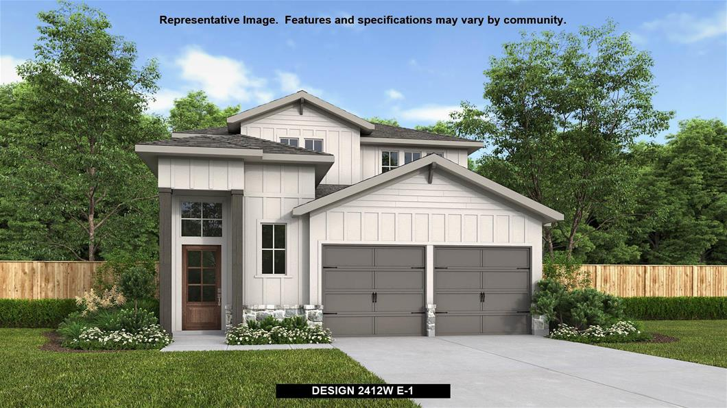 New Home Design, 2,412 sq. ft., 4 bed / 3.5 bath, 2-car garage