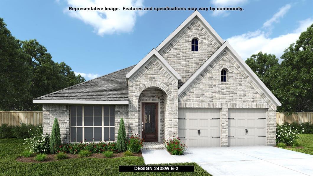 New Home Design, 2,438 sq. ft., 4 bed / 3.0 bath, 2-car garage