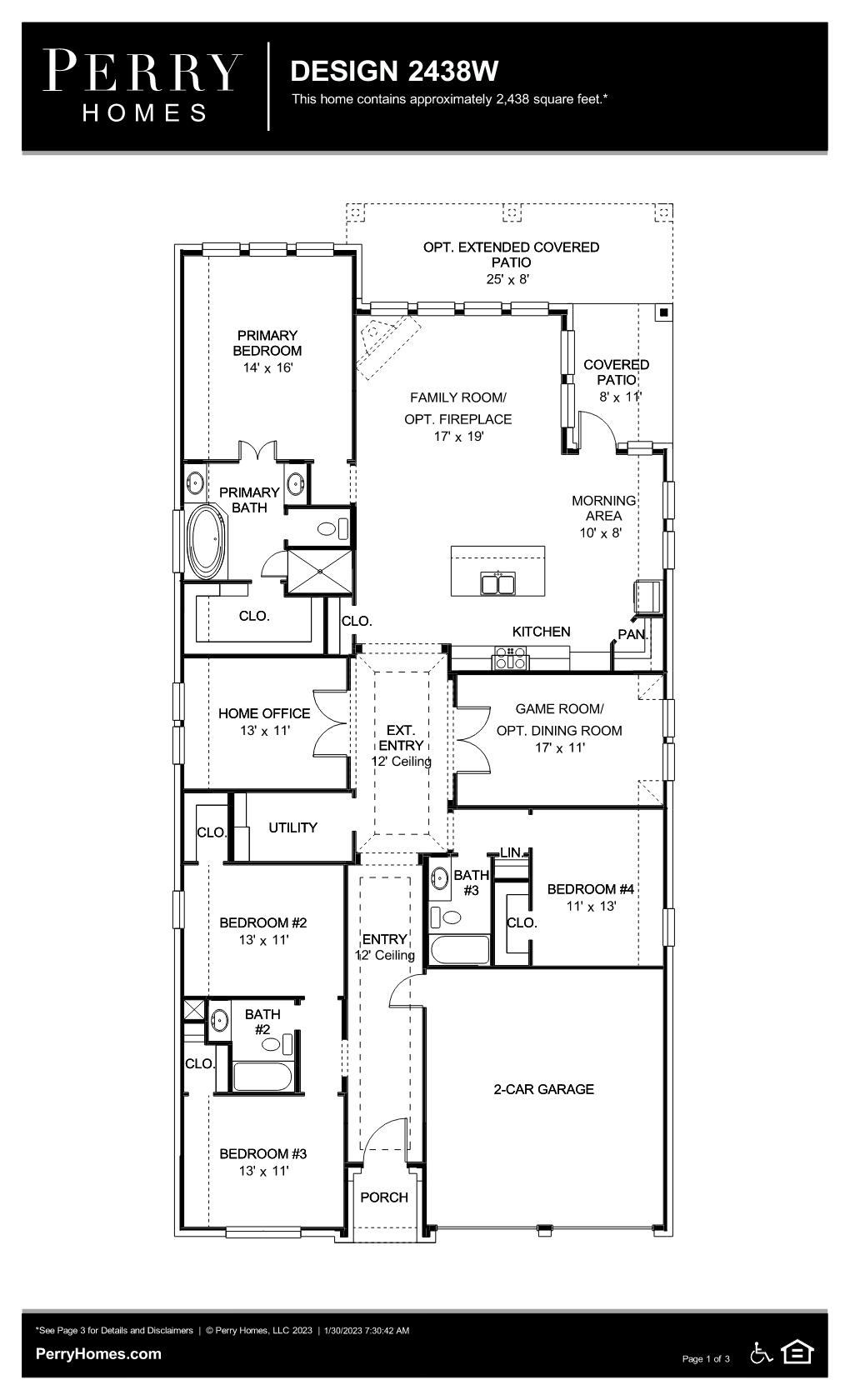 Floor Plan for 2438W