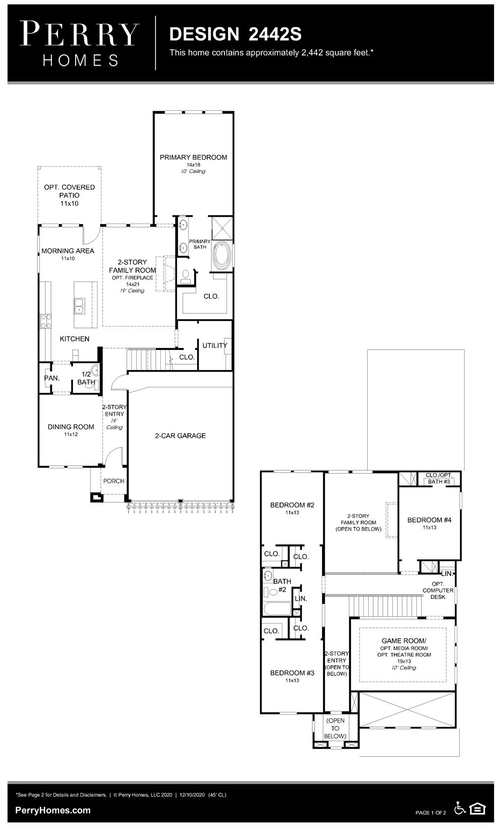 Floor Plan for 2442S