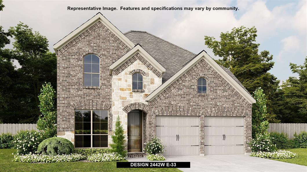 New Home Design, 2,488 sq. ft., 4 bed / 3.5 bath, 2-car garage