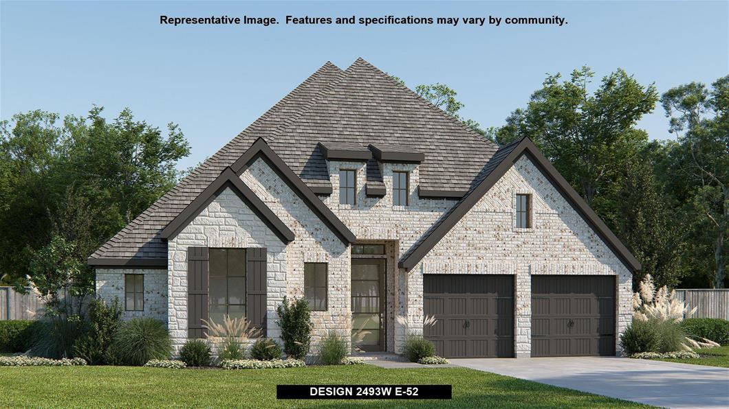 New Home Design, 2,493 sq. ft., 4 bed / 3.5 bath, 3-car garage