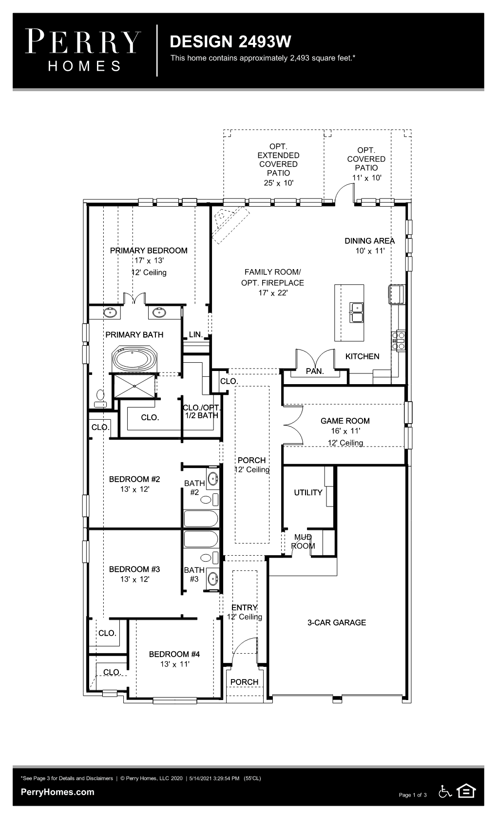 Floor Plan for 2493W