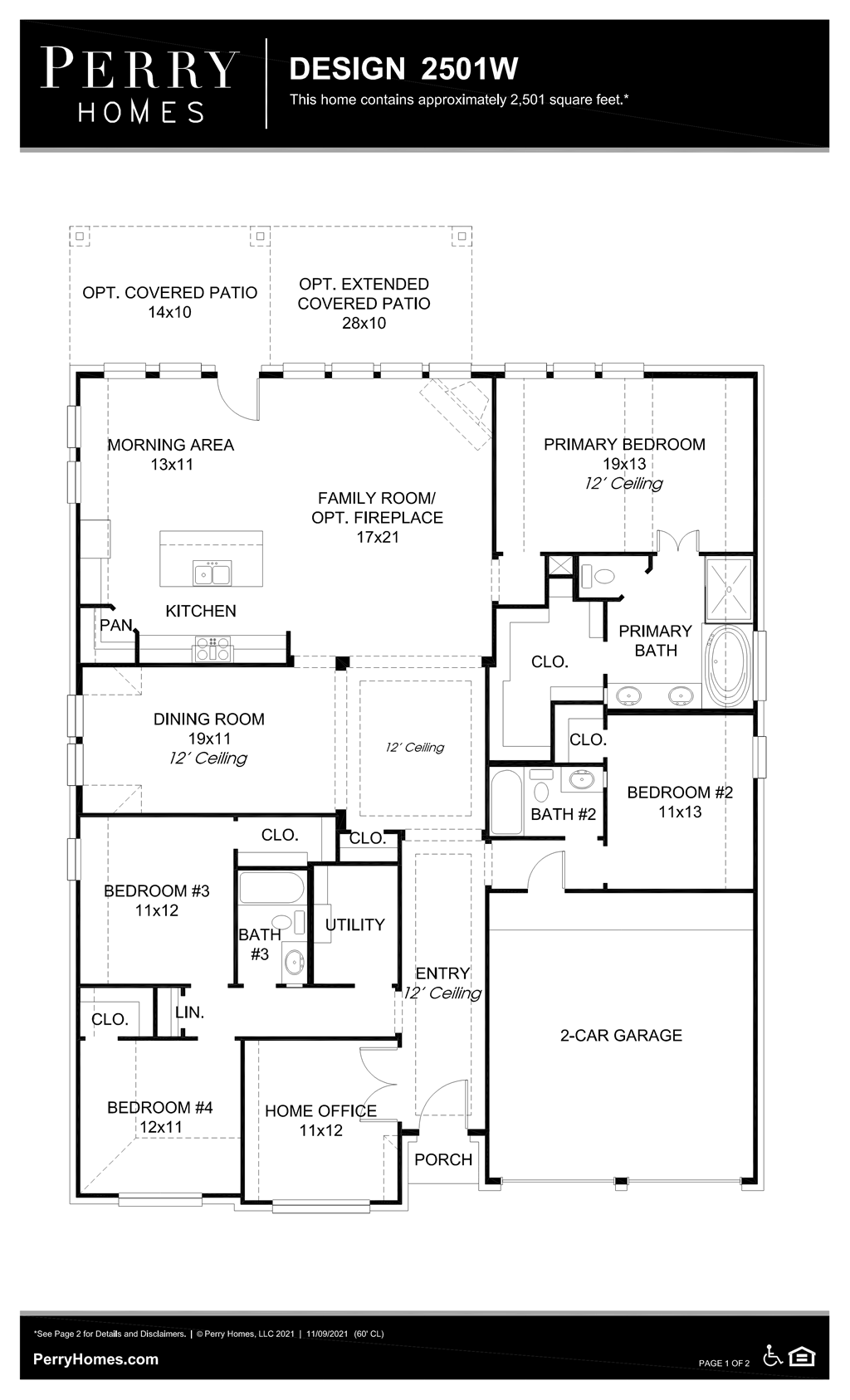 Floor Plan for 2501W