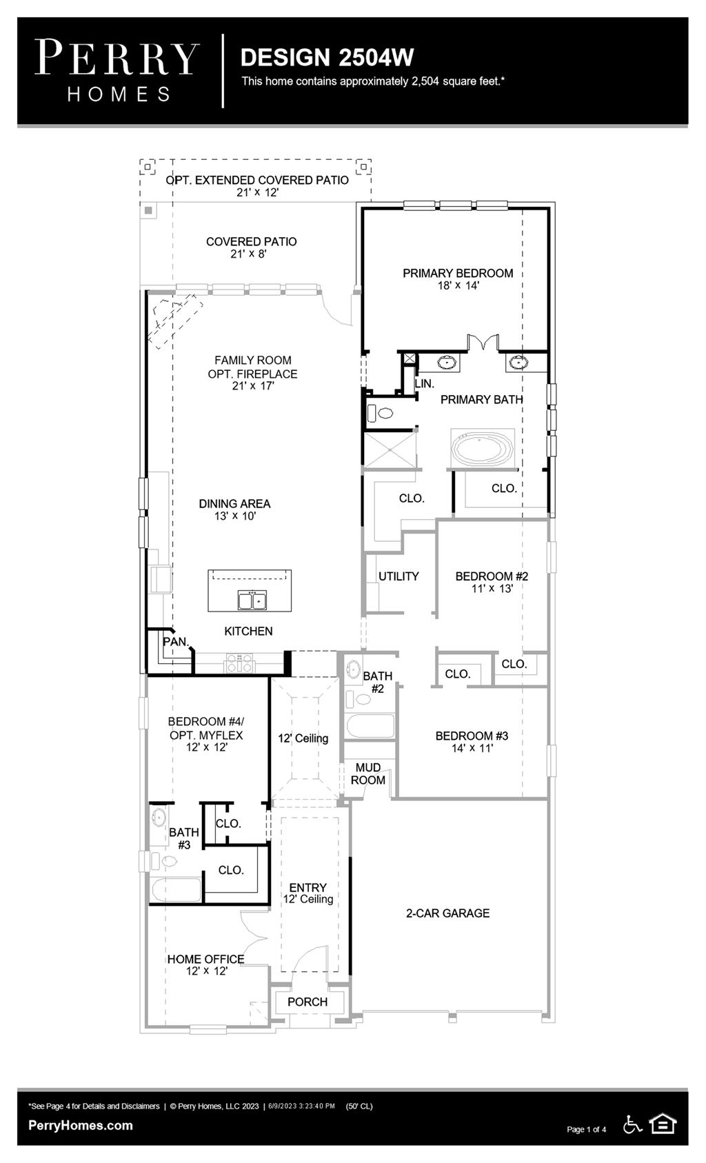 Floor Plan for 2504W