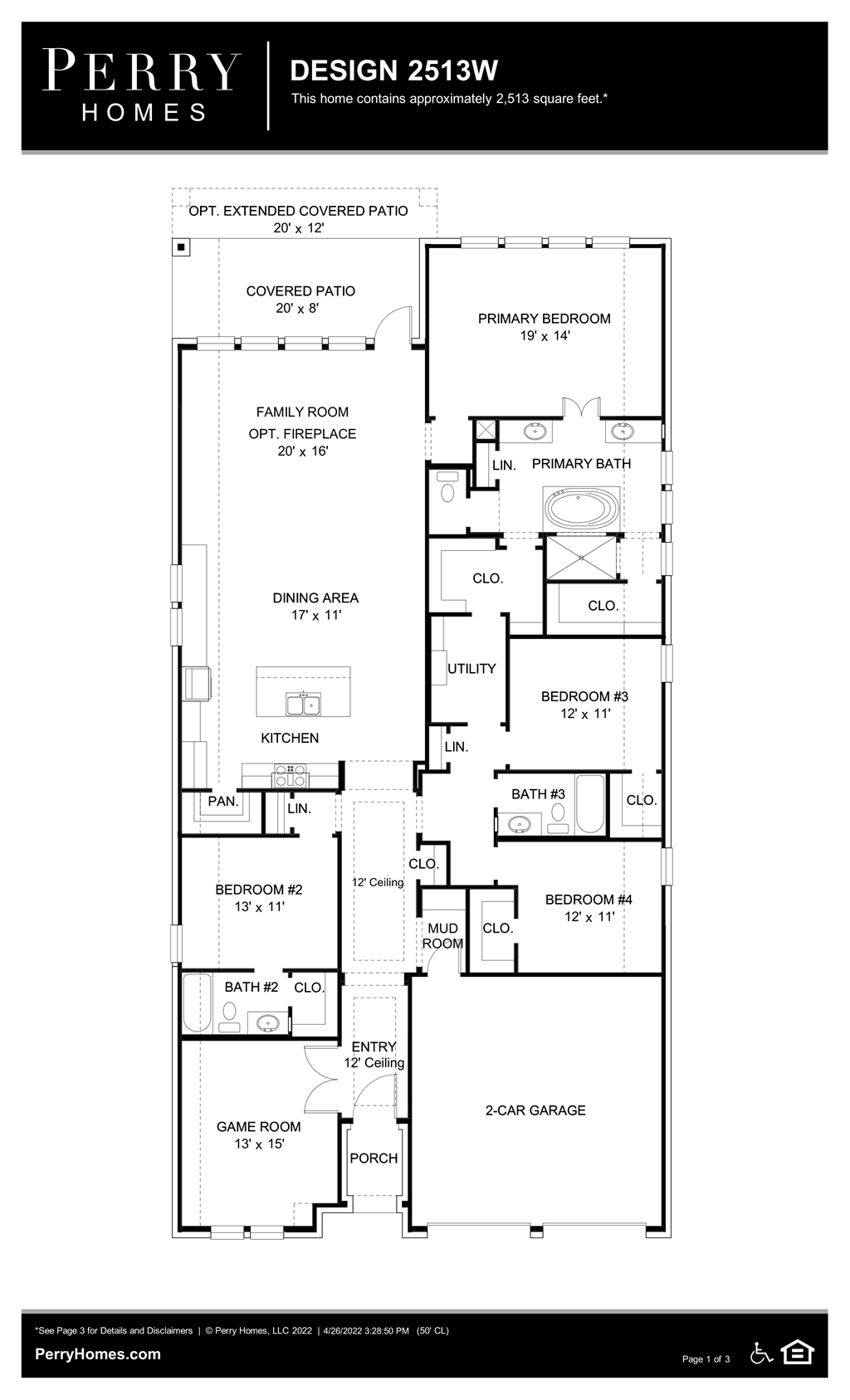 Floor Plan for 2513W