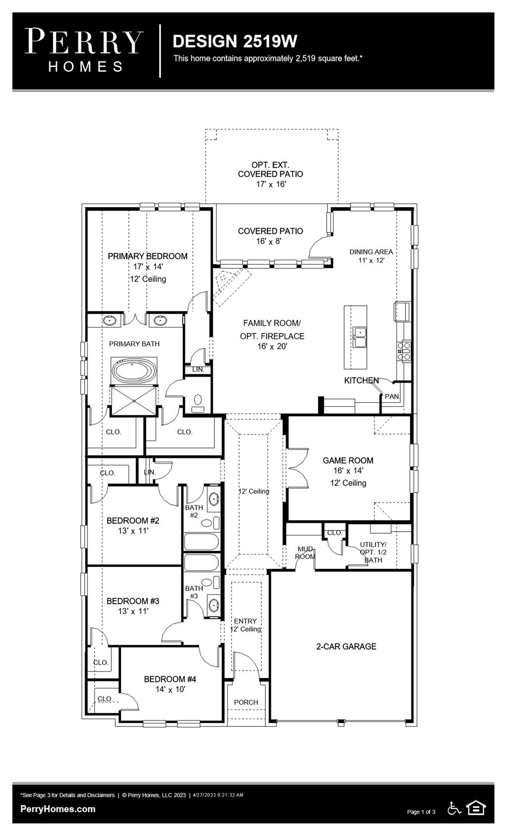 Floor Plan for 2519W
