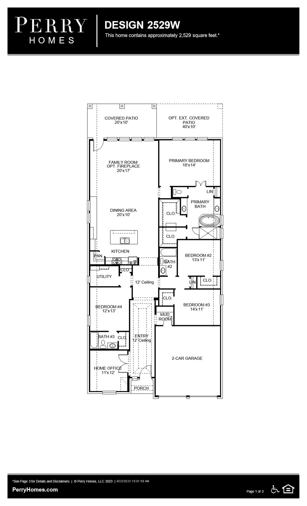 Floor Plan for 2529W