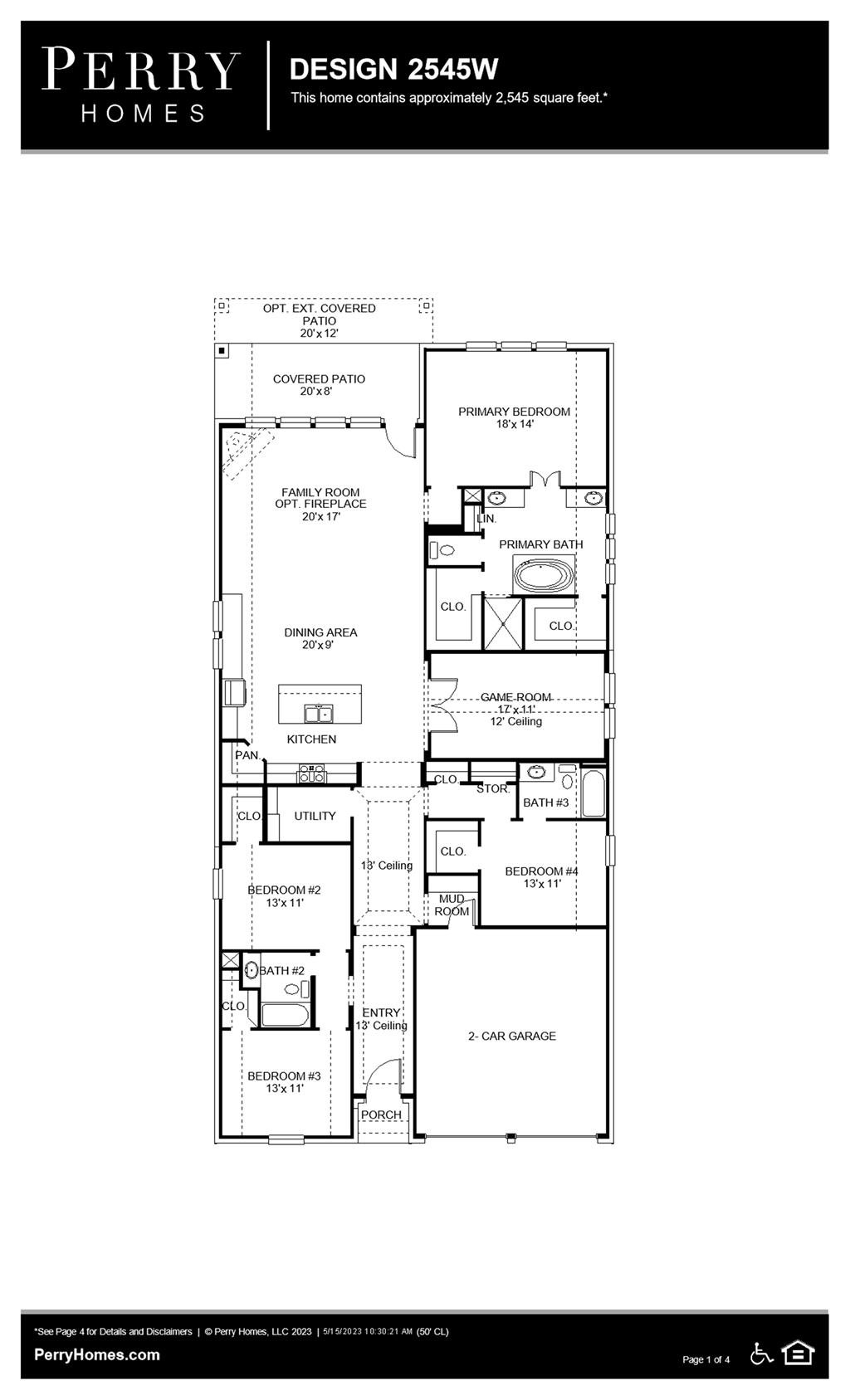 Floor Plan for 2545W