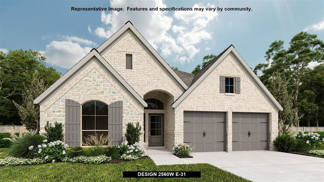 New Home Design, 2,560 sq. ft., 4 bed / 3.5 bath, 2-car garage