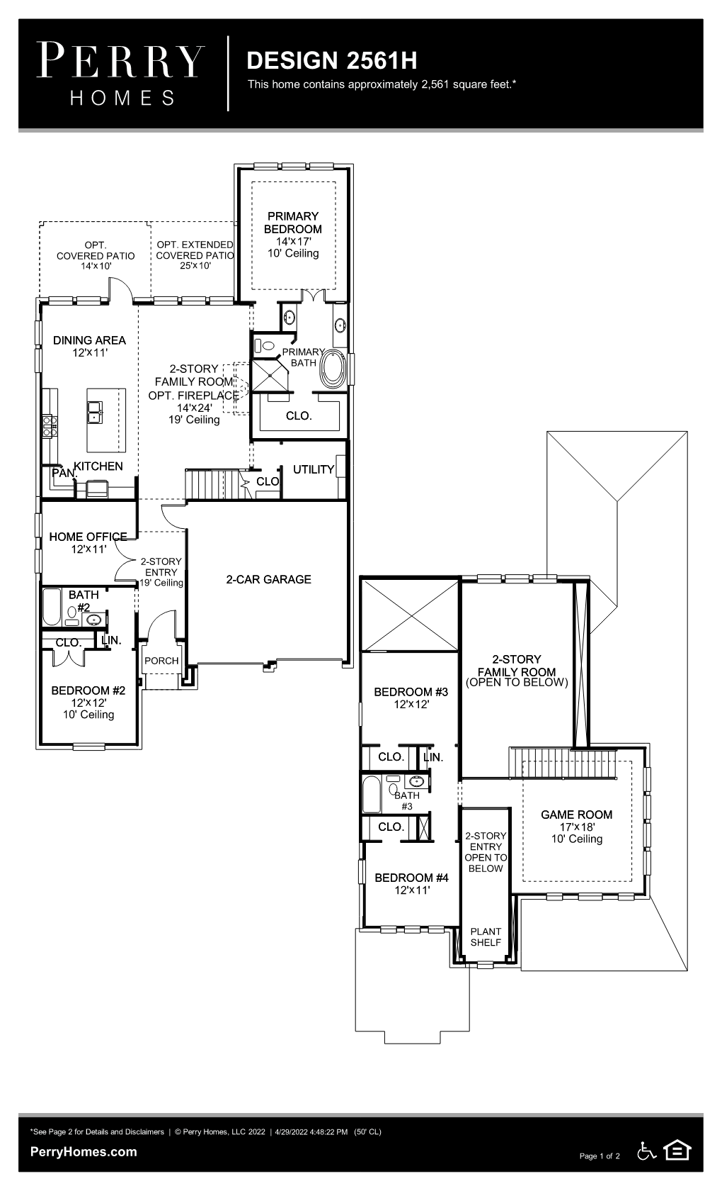 Floor Plan for 2561H