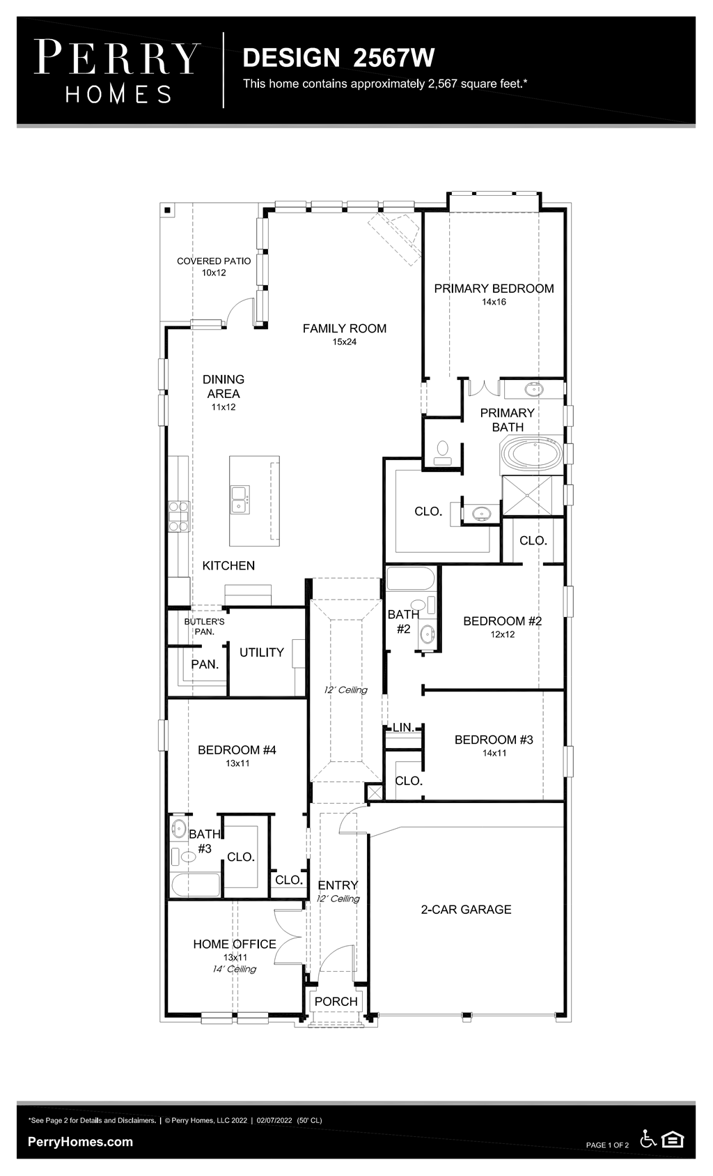 Floor Plan for 2567W